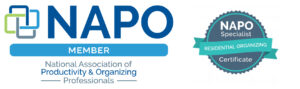 NAPO member badges and organizing certificate